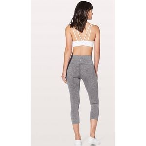 Lululemon Wunder Under Crop Legging Gray High Rise